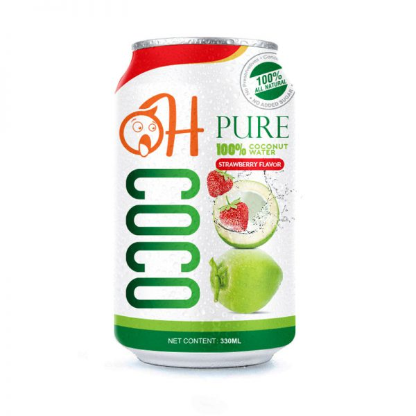 330ml OH Pure Coconut water with Strawberry