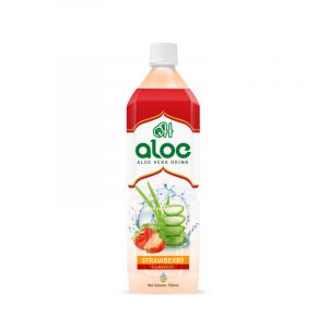500ml aloe vera juice with strawberry flavour