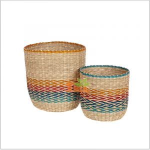 seagrass basket with lids