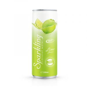 330ml TDT Sparkling coconut water with Lime