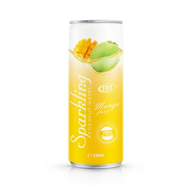 330ml TDT Sparkling coconut water with Mango