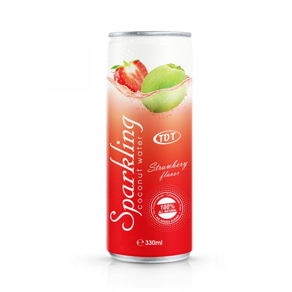 330ml TDT Sparkling coconut with Strawberry