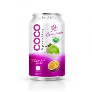 TDT Sparkling Coconut water 330ml_ Passion fruit