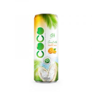 320ml OH Coconut water with pulp Orange flavor