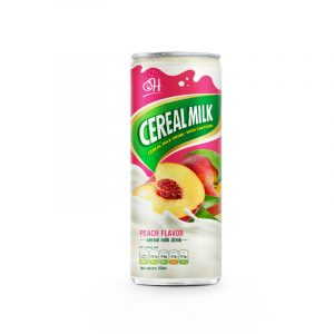 250ml Cereal Milk Drink high Calcium Peach Flavor