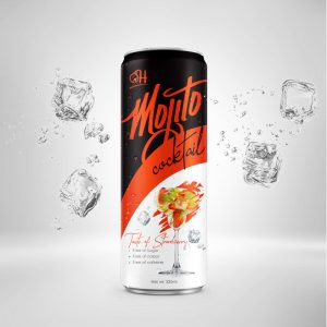 320ml Strawberry Mojito Cocktail in can
