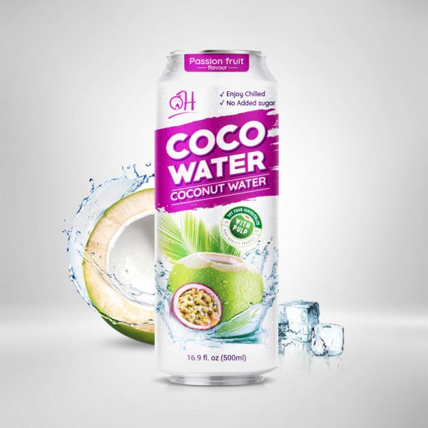 500ml OH Coconut water with pulp Passion Fruit