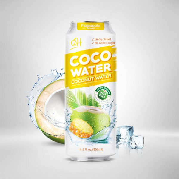 500ml OH Coconut water with pulp Pineapple flavour