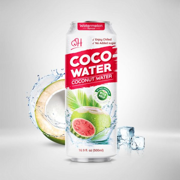 500ml OH Coconut water with pulp Watermelon flavour