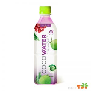 500ml TDT Coconut water with Red Grape flavour