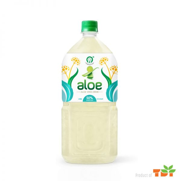1Litter TDT Aloe vera drink with Pulp Lime flavour