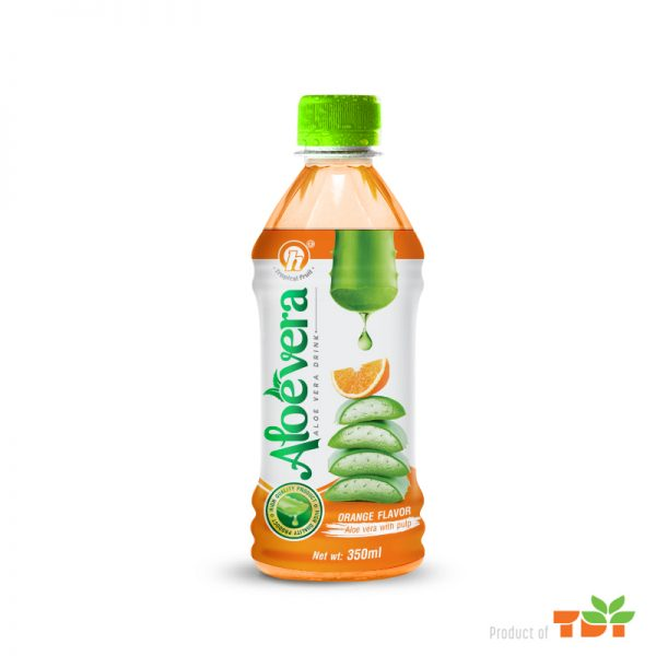 350ml TDT Aloe Vera Drink with Orange Flavor